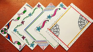 Border Designs On Paper   School Project File Decoration Ideas For Students   Project Design ideas