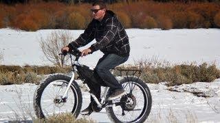 Snow Biking with 30MPH Electric Fat Tire Bike