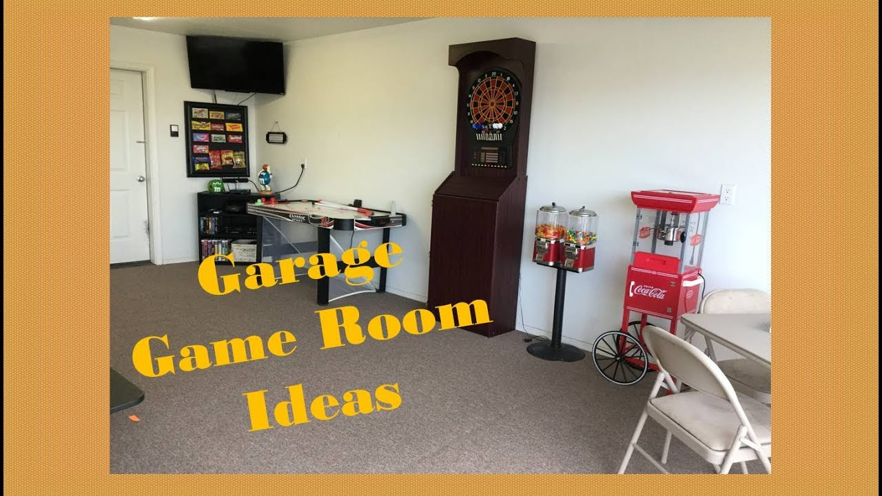 Garage Game Room Ideas YouTube - Garage games room ideas