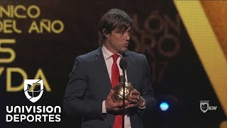 Matías Jesús Almeyda recibió Balón de Oro al mejor DT