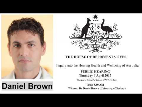 Ménière's Researcher Daniel Brown - Parliament of NSW, Sydney - 06/04/17