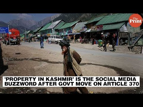 'Property in Kashmir' is the social media buzzword after govt move on Article 370
