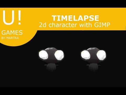 timelapse. Creating with GIMP a little character: littleman thumbnail