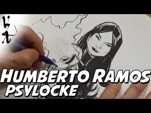 Humberto Ramos Drawing Psylocke