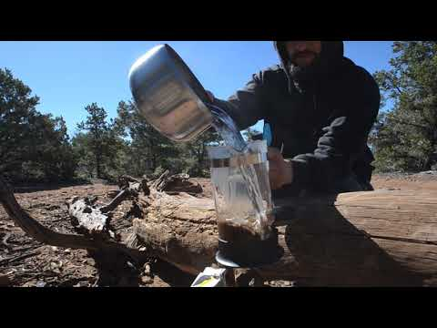 Making French Press Coffee Camping