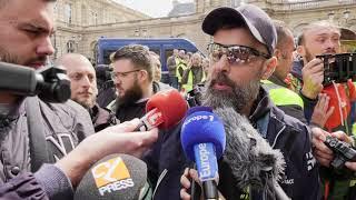 """Privatisation d'ADP : les """"gilets jaunes"""" devant le Sénat (9 avril 2019, Paris)"""