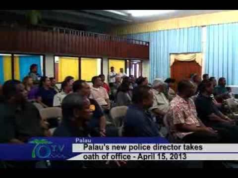 Palau's New Police Director Takes Oath
