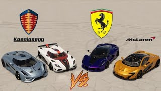The Crew 2 - Drag Race - Top 4 Hyper Cars (Regera, Agera, LaFerrari, P1)