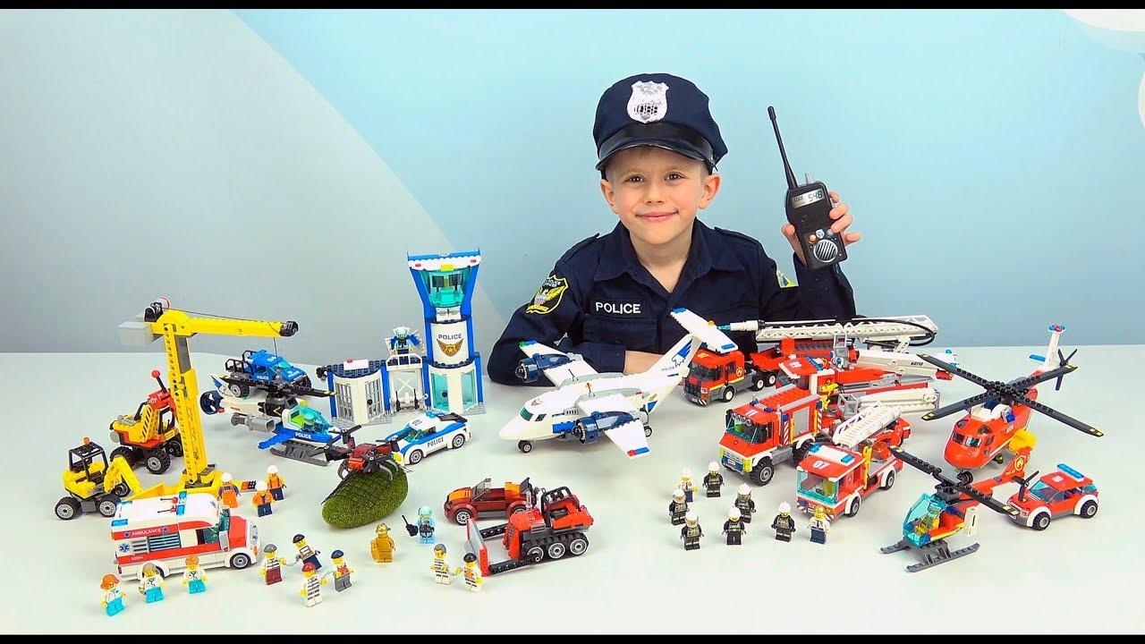 Лего Полиция NEW!! Погоня за ДРОНОМ банды Ворона. Полицейский Даник и операция ТИХИЙ ЧАС