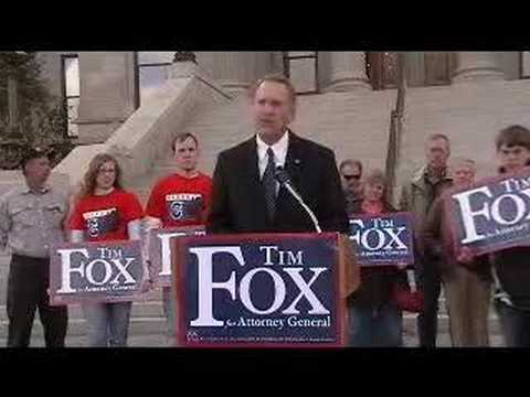 Tim Fox for Attorney General - Press Conference