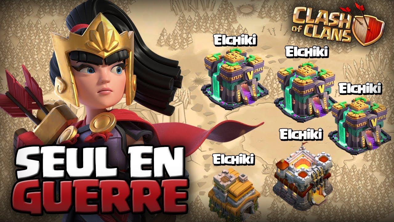 JE SUIS SEUL EN GUERRE 5vs.5 (c'était chaud) ! Clash of Clans