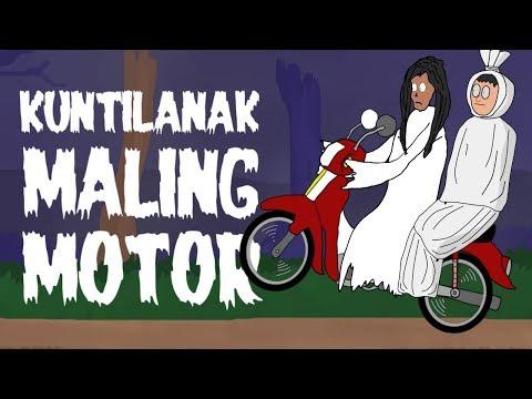 KUNTILANAK MALING MOTOR - KARTUN HANTU LUCU - KARTUN HOROR - SURGATOON