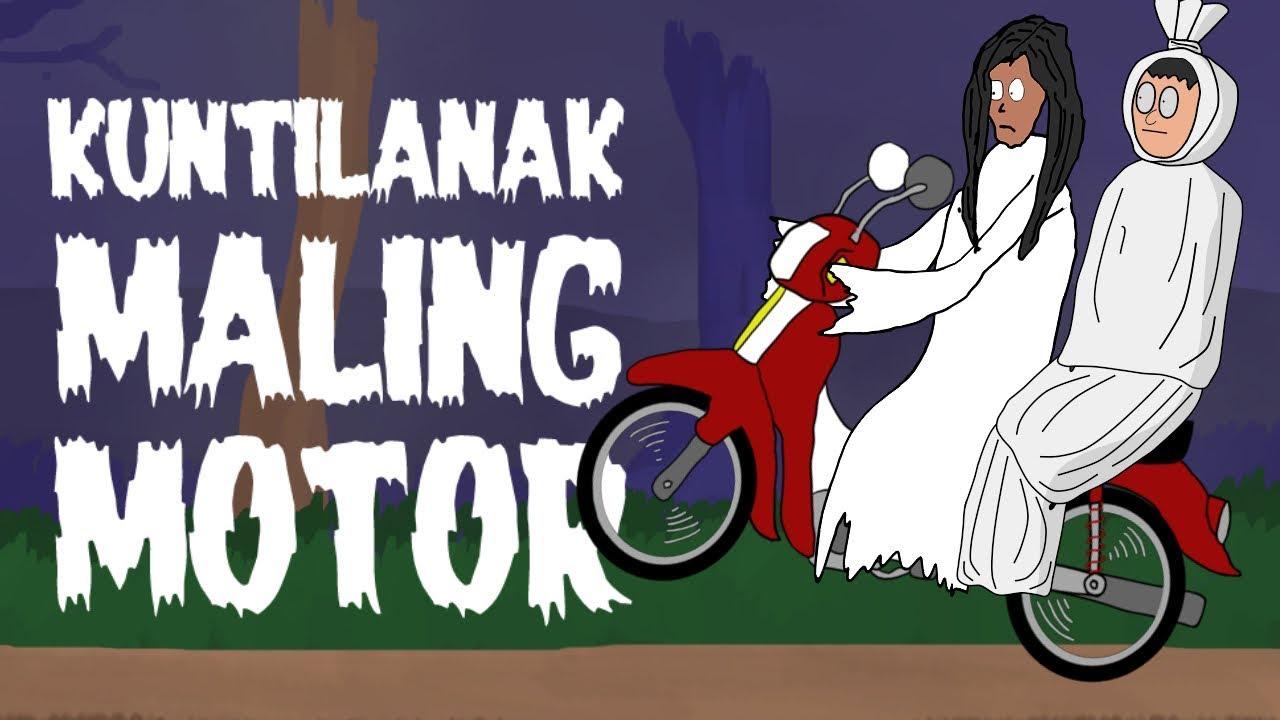 KUNTILANAK MALING MOTOR KARTUN HANTU LUCU KARTUN HOROR SURGATOON