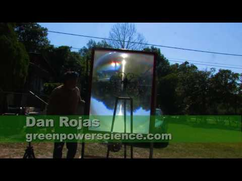 FRESNEL LENS EXTREME Solar 3000˚ F Sunlight Melting a Burning Stuff with the Sun
