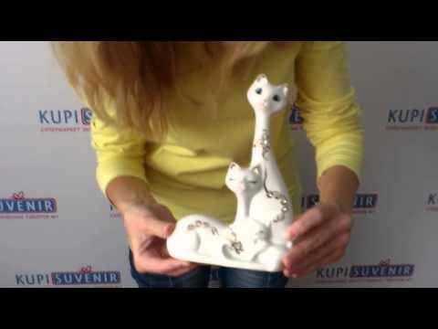 Фарфоровая статуэтка «Кошки»