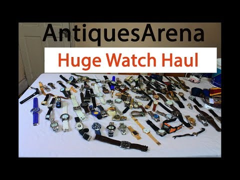 Look At Massive Watch Haul , Stock Buying Watches for Resale on Car Boot Sale