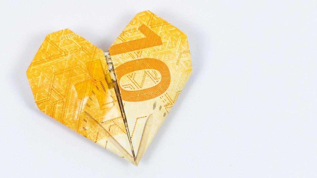 Falten geld blüten Geldscheine falten