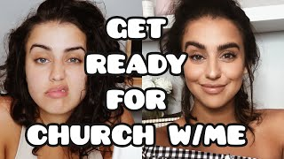 GET READY FOR CHURCH W/ME | OUTFIT/MAKEUP