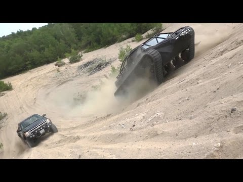 Howe & Howe Technologies - Ripsaw EV2 Luxury Super Tank Extreme Desert Testing [1080p]