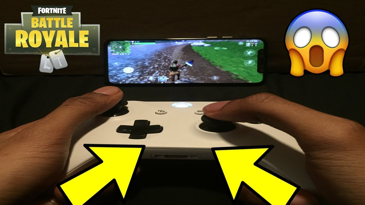 How to play fortnite mobile with a xbox one controller