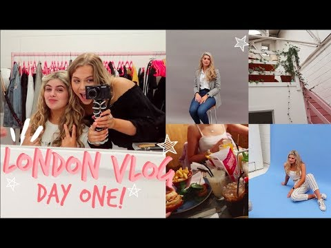LONDON VLOG! DAY ONE | Photoshoots & Food! | Sophie Clough