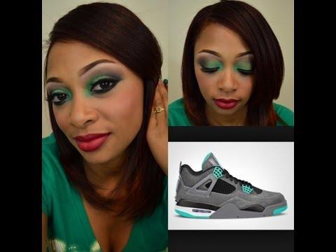 Air Jordan IV Green Glow Makeup Tutorial