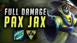 FULL DAMAGE PAX JAX! GUNBLADE + TRIFORCE OP! - League of Legends Gameplay