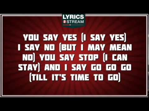Hello Goodbye - The Beatles tribute - Lyrics