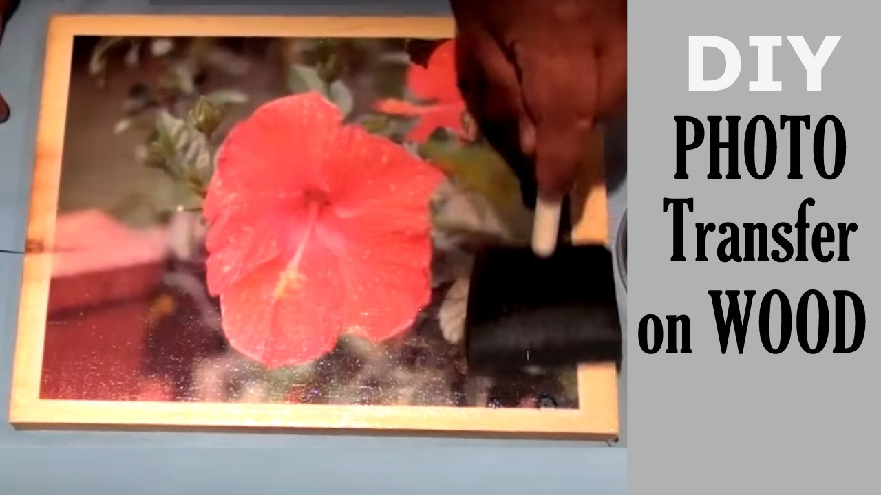How To Transfer a Photo To Wood - DIY wooden picture