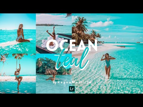 Lightroom Mobile Presets Free Dng & Xmp | OCEAN TEAL PRESET
