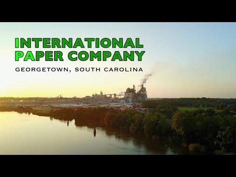 IPA - Tribute video - International Paper Company with Drone Georgetown SC at Sunset