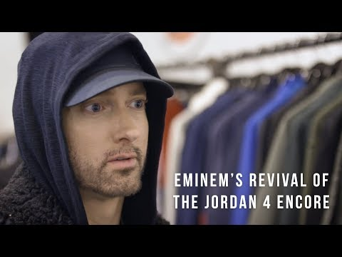 Eminem's Revival Of The Jordan 4 Encore. Available Exclusively on StockX.