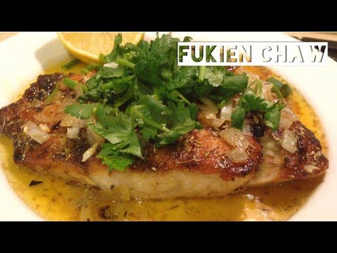 Panfried Barramundi With Butter And Herbs | Nice Barramundi Recipe | Panfried Fish Fillet