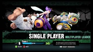 Darkstalkers Resurrection main menu character art