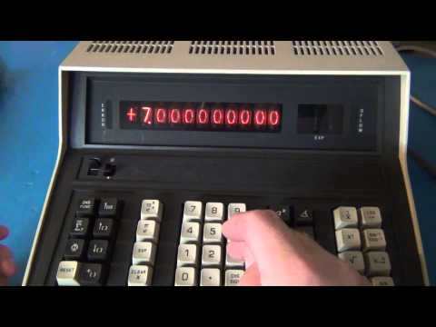 Monroe 1651 Nixie Tube Engineering Calculator From 1971 Part 2 -- Power on & Functionality