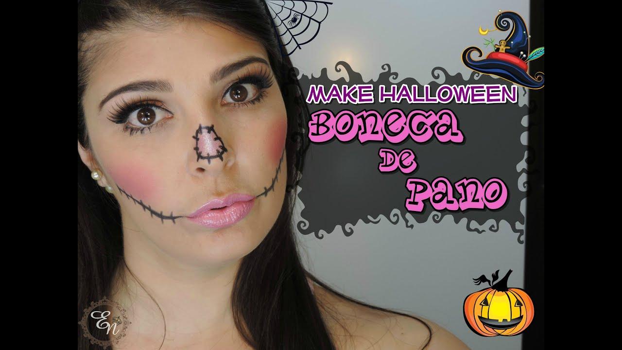 Muito Make Halloween Boneca de Pano por Nana Nunes - YouTube UE32