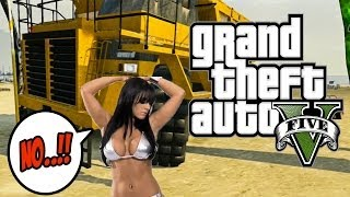 ★ GTA 5 - ONLINE FUNNY MOMENTS! - Bikini Babe Vs. Dump Truck, Lightning Strike, & More!!)