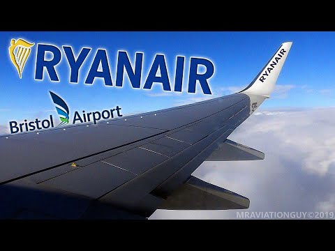 WINDY! Onboard Ryanair 737-8AS: Pushback, Taxi, Takeoff, Climb (Bristol Airport - BRS/EGGD)