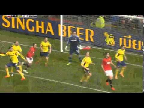 Manchester United  Vs Sunderland 1-0  Jonny Evans Goal ~ 22/01/2014 HD