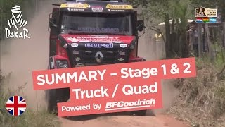 Stage 1 & 2 Summary - Quad/Truck - Dakar 2017