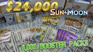$24,000 Pokemon Opening!!! - LARGEST EVER! 6,000 Sun & Moon Packs (167 Booster Boxes!) thumbnail