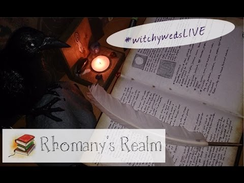 #WitchyWedsLIVE (Replay) | Pt 2 New Book of Shadows; Ink Te