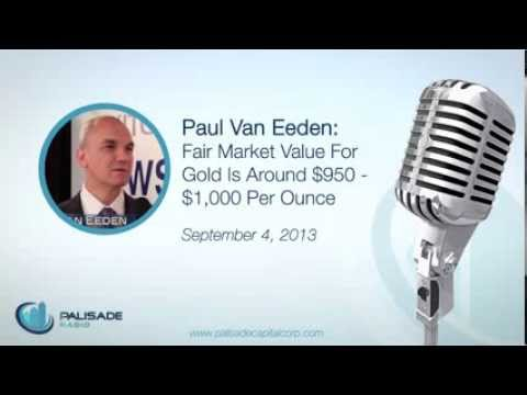 Paul Van Eeden: Fair Market Value For Gold Is Around $950 - $1,000 Per Ounce - 9/4/13