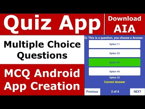 Make Quiz App AppyBuilder | MCQ Android App Creation | Create Multiple Choice Questions Android App