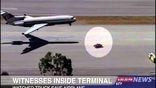 เครื่องบินใช้รถกระบะแทนล้อหน้า