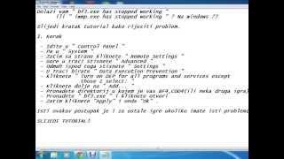 battlefield 3 cod 4 has stopped working windows 7 rijesenje cro tutoriali
