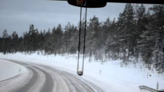 フィンランド サーリセルカ サーリセルカからイヴァロ空港 Finland Suom...