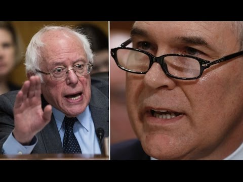 Bernie Sanders Grills Trump's Climate Change-Denying EPA Administrator Nominee