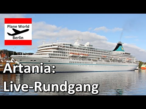 MS Artania *Phoenix Reisen Bonn*: Live-Rundgang