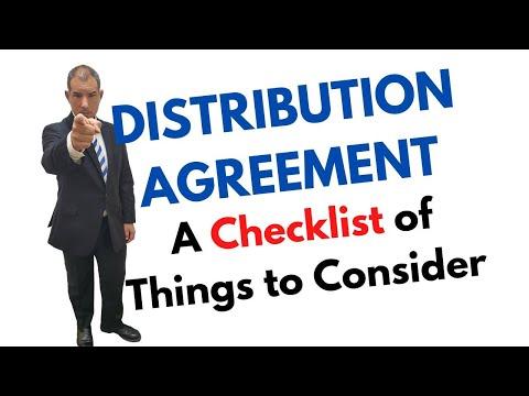 Distribution Agreement Checklist